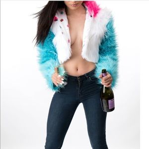 Jackets & Coats - Multicolored crop jacket (S,M, or L)